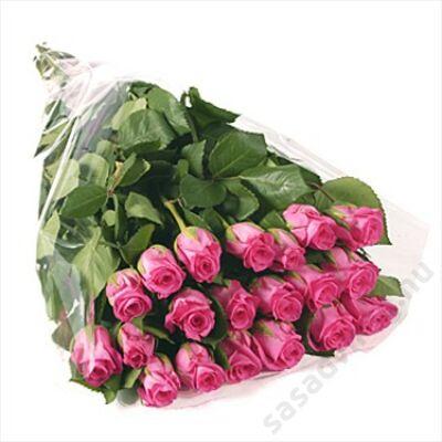 20 szál pink rózsa kötegben