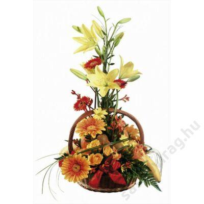 Gyümölcs- és virágkosár
