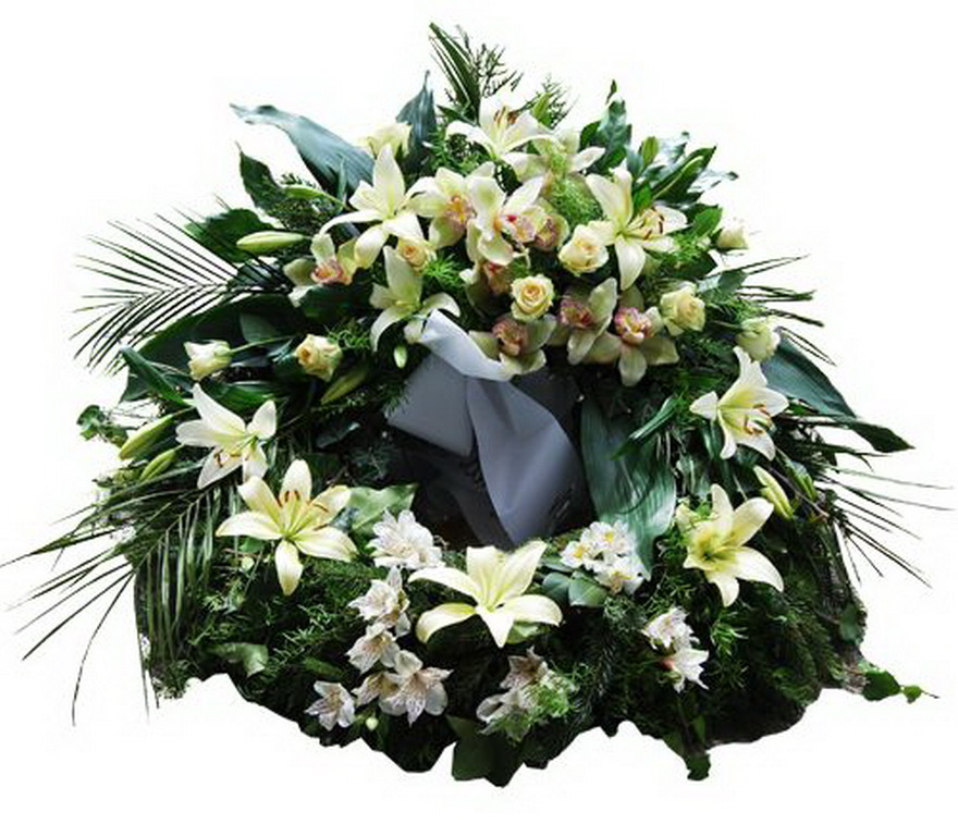 Temetési koszorú rendelés, részvét virágcsokor küldés